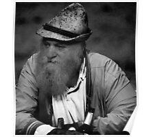 portrait of a swiss farmer Poster