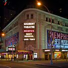 Shubert Theatre at Night by J. Scherr