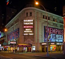Shubert Theatre at Night by jscherr