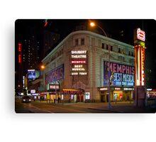 Shubert Theatre at Night Canvas Print