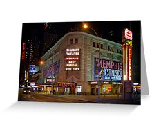 Shubert Theatre at Night Greeting Card