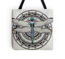 Dragonfly Mandala Tote Bag