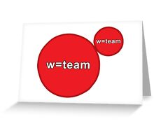 w=team Agar.io Greeting Card