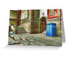 Tardis Greeting Card