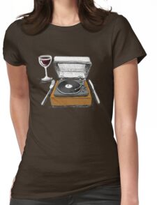 Dinner Music Womens Fitted T-Shirt