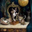 Still Life with Kitten by Gazart