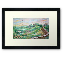 Uphill Framed Print