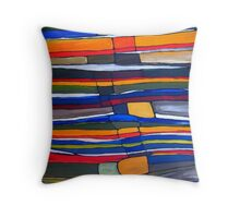 Stratigraphic Improvement Throw Pillow