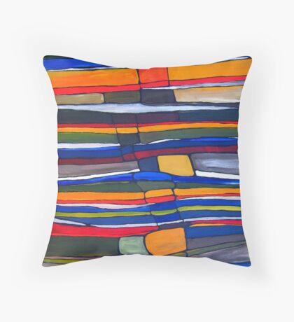 Stratigraphic Improvement Throw Pillow