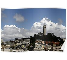 Cloudy Day - Coit Tower Poster
