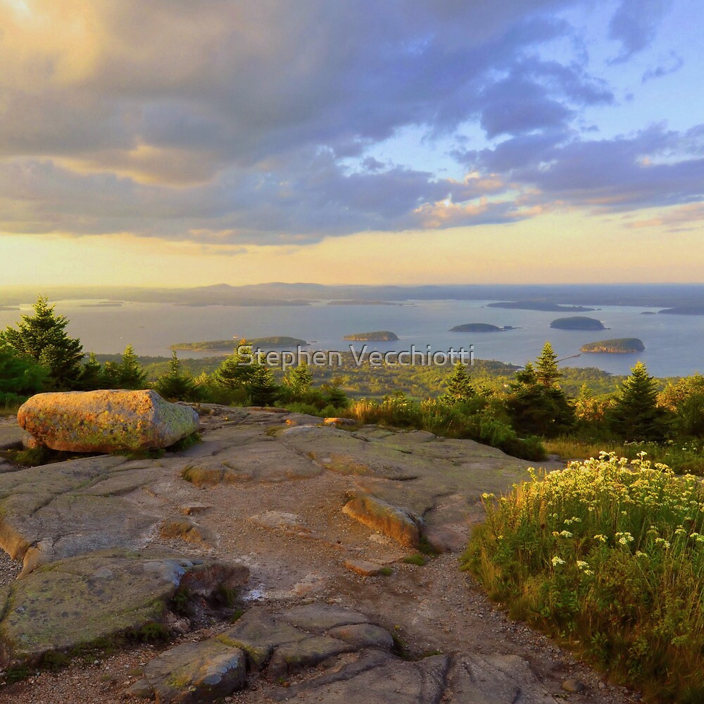 Cadillac Mountain Evening by Stephen Vecchiotti