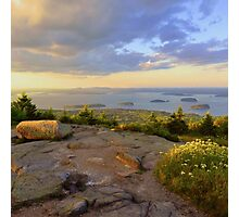 Cadillac Mountain Evening Photographic Print