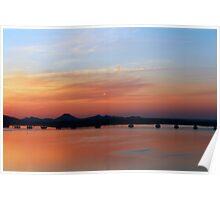 Sunset at the Bridge, 3 Poster