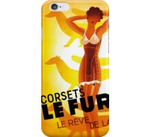 Vintage Fashion, French corset company, Art Deco iPhone Case/Skin