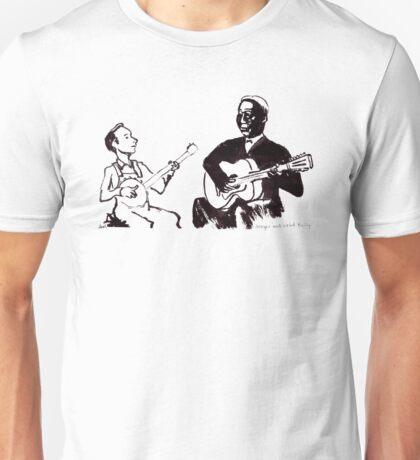 Young Pete Seeger and old Huddie Lead Belly Unisex T-Shirt