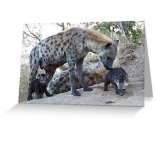 Hyena Family Greeting Card