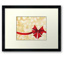 Red bow Framed Print