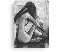 Nude In Black and White Canvas Print