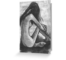 Nude In Black and White Greeting Card