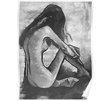 Nude In Black and White Poster