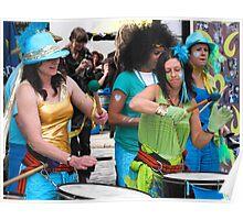 Samba drummers Poster