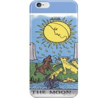 The Moon Tarot Card Blue iPhone Case/Skin