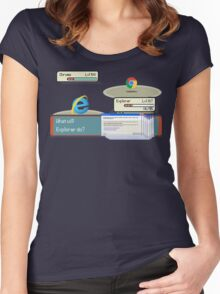 Browser Battle Women's Fitted Scoop T-Shirt