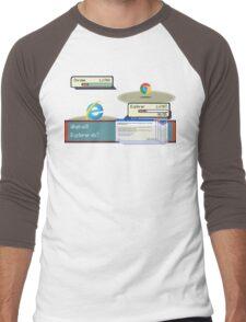 Browser Battle Men's Baseball ¾ T-Shirt
