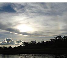 Cloudy sunset over Okavango River, Botswana, Africa Photographic Print