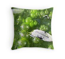 Slimey Bubbles Throw Pillow