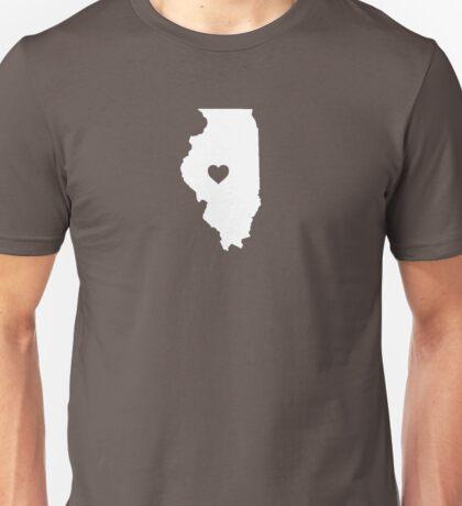 Illinois Heart Unisex T-Shirt