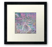 'Playful Colour on Black' Framed Print