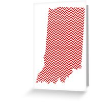 Indiana Zig Zag Greeting Card