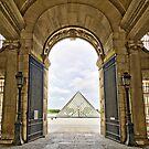 Louvre via gate. by Victor Pugatschew