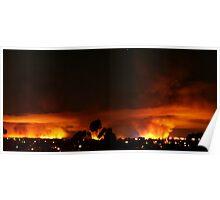 Burning Skyline Poster