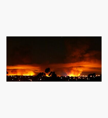 Burning Skyline Photographic Print