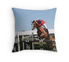 A unique jumping style... Throw Pillow