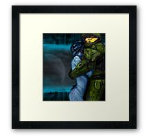 Cortana & Master Chief Framed Print
