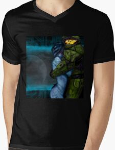 Cortana & Master Chief Mens V-Neck T-Shirt