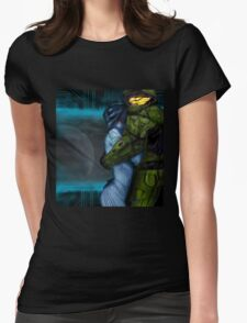 Cortana & Master Chief Womens Fitted T-Shirt