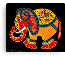 'Bobo The Elephant' - first in a new elephant series by Lisa Frances Judd. Canvas Print