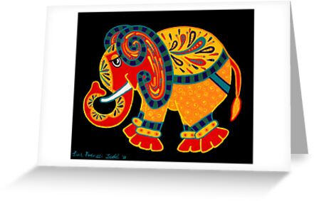 'Bobo The Elephant' - first in a new elephant series by Lisa Frances Judd. by Lisa Frances Judd~QuirkyHappyArt