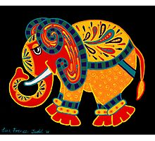 'Bobo The Elephant' - first in a new elephant series by Lisa Frances Judd. Photographic Print