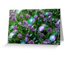 Bubbly Chives Greeting Card
