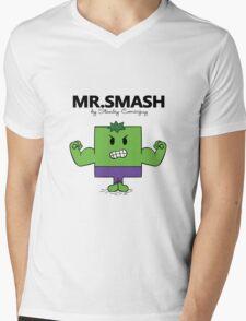 The Mr. Smash  Mens V-Neck T-Shirt