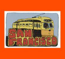 Travel sticker: San Francisco Street car Kids Tee