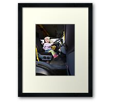 Can you press the pedals please Framed Print