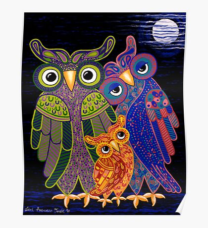 'Owl I Want Is You' - the cutest owl family ever! Poster