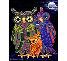 'Owl I Want Is You' - the cutest owl family ever! Photographic Print
