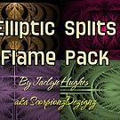 Elliptic Splits Flame Pack Cover by Jaclyn Hughes